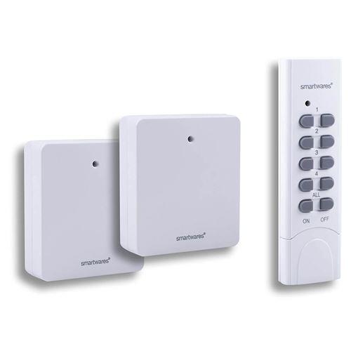 Smartwares - 2 prises fines commandées SH5-SET-FL
