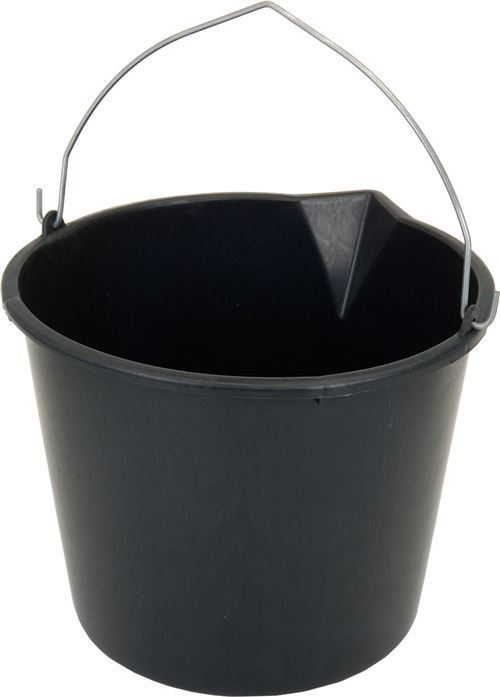 Seau de chantier noir 12 litres