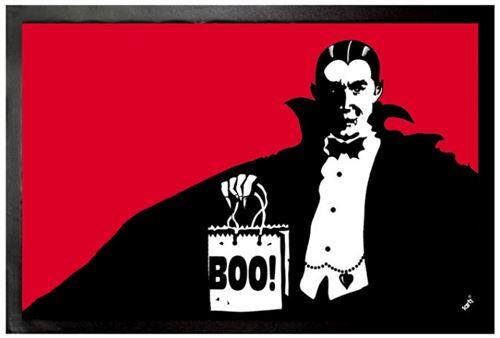 Vampires Paillasson Essuie-Pieds - Dracula Boo (60x40 cm)