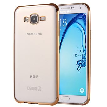 52 For Galaxy On5 G550 Electroplating Soft TPU Protective Cover Case Gold