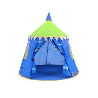 tente de jeu ch teau pour enfants bleu maisons de. Black Bedroom Furniture Sets. Home Design Ideas
