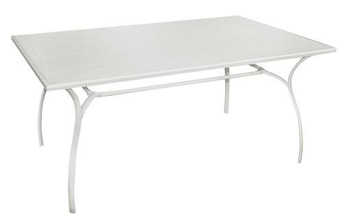 Table de repas en fer coloris ivoire - Dim : 160 × 100 cm -PEGANE-