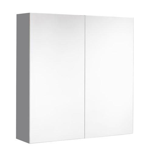 Armoire de toilette LOOK - L. 60 x H. 65 cm - Gris