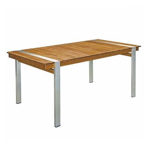 Table de repas rectangulaire 220 cm Bois/Acier - RAIVAVAE