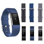 10pcs bande de remplacement en silicone Smartwatch Sport bracelets pour Fitbit Charge 2 TH899