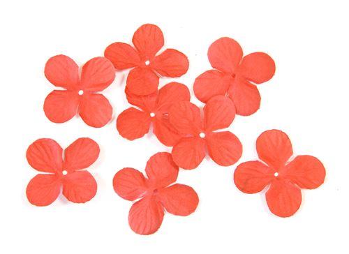 Lot de 240 pétales de fleurs en tissu Rouge - 3 cm