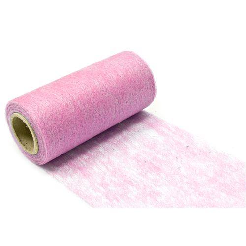 Lot de 10 Rouleaux en tissus non tissé coloris Rose - 10 cm x 10 m