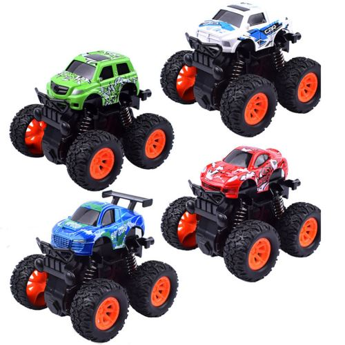 4pc Mini véhicule Pull Back Voitures avec Big Wheel Tire Creative Gifts for Enfants B