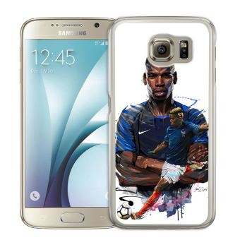 Coque pour Samsung Galaxy S7 Edge football france pogba dessin