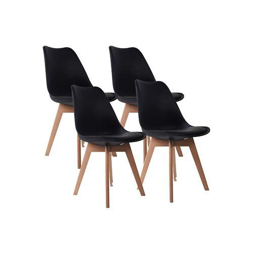 Chaise d'intérieur LAGOM noir en bois H83cm