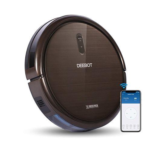 ECOVACS Robotics DEEBOT N79S - Robot nettoyeur de sol avec une puissance d'aspiration maximale, commande par smartphone, chargement automatique, pour sols durs et tapis et moquettes minces