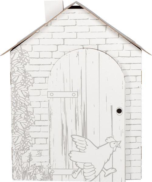 Maison De Jeu A Colorier En Carton Cabane Maisons De Jardin Achat Prix Fnac