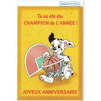 Carte D Anniversaire Disney Les 101 Dalmatiens Sport Enfant