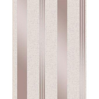 Quartz Papier peint à rayures Rose or fin Décor FD42205