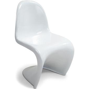 136EUR93 Sur Chaise Panton Junior Verner Blanc