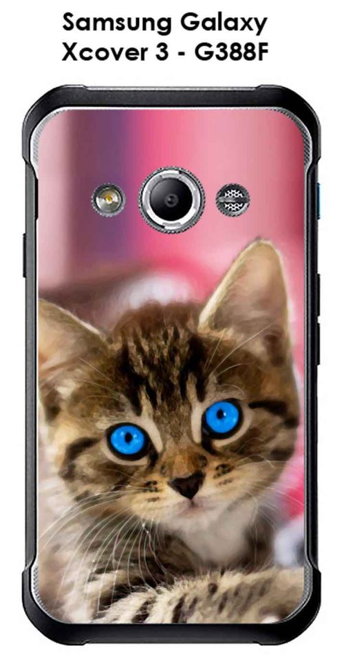Coque Samsung Galaxy Xcover 3 - G388F design Chaton-1