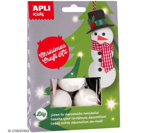 Mini Kit créatif - Bonhomme de neige - APLI Kids (4-8 ans)