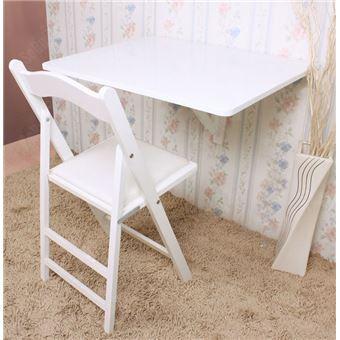 sobuy table d 39 enfant table de cuisine table murale pliable bois 75x60 fwt01 w fr achat prix. Black Bedroom Furniture Sets. Home Design Ideas