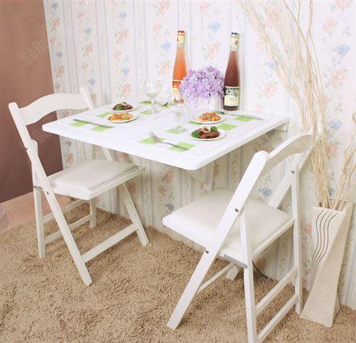 Sobuy Fwt01 W Table Murale Rabattables Table De Cuisine Pliante Table A Rabat Pour Enfant Pliable L X P 75cm X 60cm 1 Chambriere Rectangulaire Blanc Achat Prix Fnac