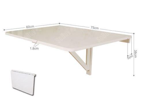 Sobuy Fwt01 W Table Murale Rabattables Table De Cuisine Pliante Table à Rabat Pour Enfant Pliable L X P 75cm X 60cm 1 Chambrière