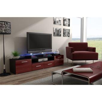Meuble Tv Design Evori   Wenge Et Bordeau   Achat U0026 Prix | Fnac