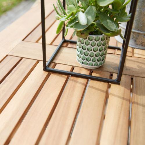 Table de jardin carrée en bois d\'acacia FSC - Mobilier de ...