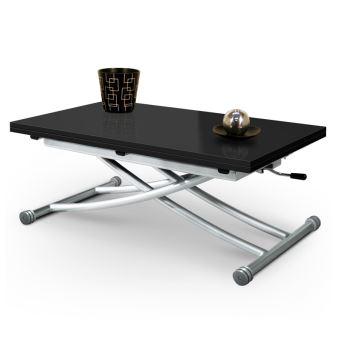 Table Basse En Verre Noir.Table Basse Relevable Mirage Dessus Verre Noir