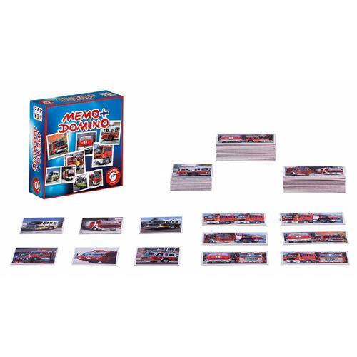 Jeux - Mémo Domino Pompier PIATNIK Multicolore