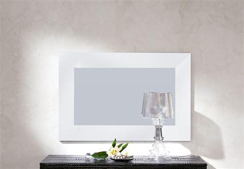 Miroir mural blanc noir ou gris laqué design RAMSAY - Noir - L 105 x H 70 cm