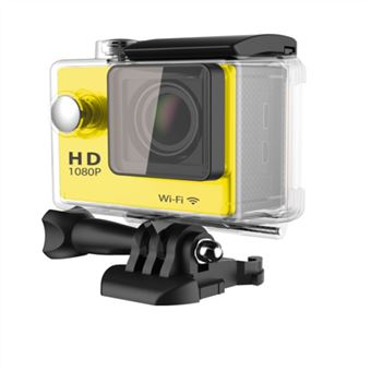 Caméra Ultra HD 4K Waterproof pour Sports Extrêmes (Jaune)