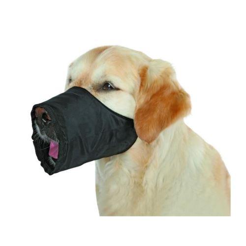 trixie museliere polyester s–m noir pour chien