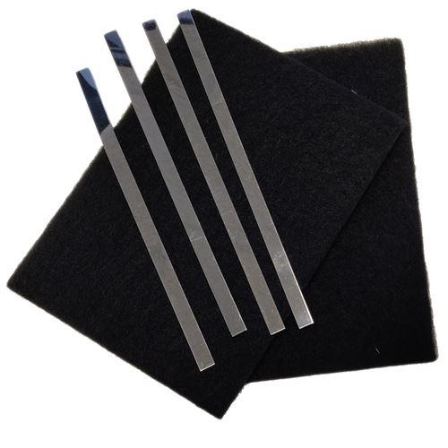 Lot de 2 filtres charbon (avec tiges de fixation) Hotte 74X4121 SAUTER, BRANDT - 62114