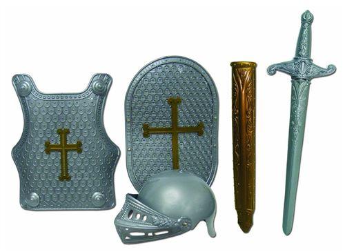 Ensemble déguisement armure de chevalier 4 pièces
