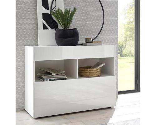 Buffet blanc laque design 110 cm SOPRANO