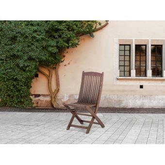 Beliani - Chaise de jardin inclinable en bois - Maui ...