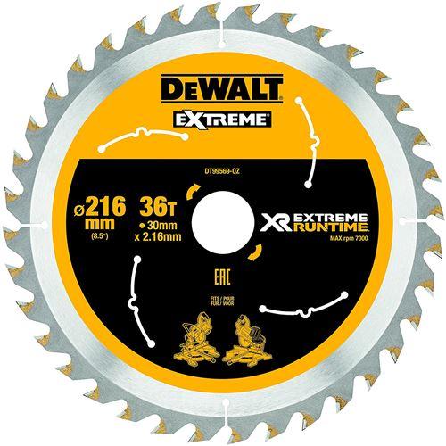 DeWalt XR Extreme Runtime Lame de scie circulaire statique, 1 pièce, 216/30 mm 36 WZ/FZ, dt99569 de QZ