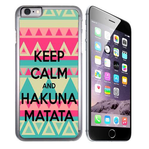 Coque pour iPhone 6 et iPhone 6S keep calm hakuna mattata