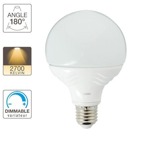 Xanlite|Ampoule LED G95, culot E27, 14,8W cons. (100W eq.), lumière blanc chaud|EE1521BD