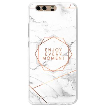 Coque Effet Marbre Enjoy Every Moment Rose Gold Huawei