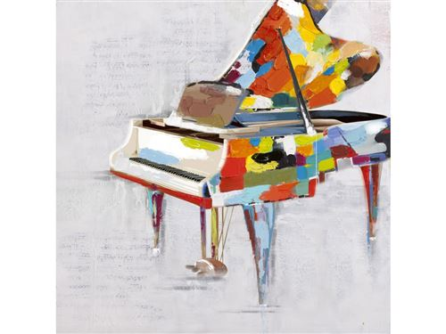 Peinture à l'huile piano SONATE - 60*60 cm