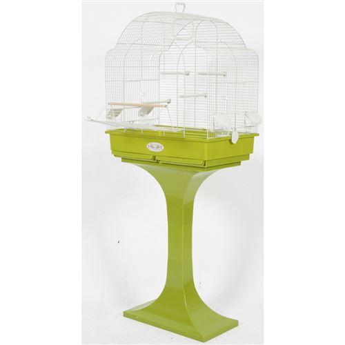 Cage Arabesque Louise 68 sur pieds. olive. Dimension: 68.5 x 36 x 135 cm . pour oiseaux. - zolux - ZO-104110OLI