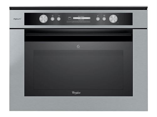 Whirlpool Fusion AMW 836/IXL - Four micro-ondes combiné - grill - intégrable - 40 litres - 900 Watt - acier inoxydable