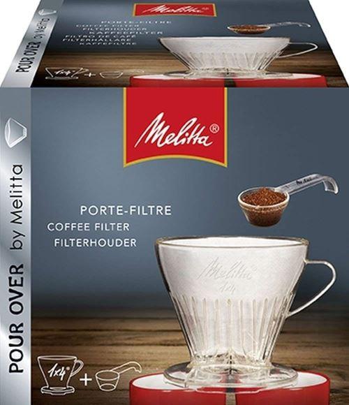 1 Porte-filtre de Taille 1x4 5 Filtres /à Caf/é 1x4 Pour Over Transparent 290 ml Melitta Kit de Filtration Manuelle 2 Mugs en Porcelaine