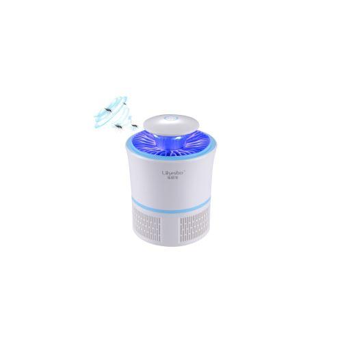 Photo catalyse uv lampe anti moustique avec ventilateur à 6pales(bleu)