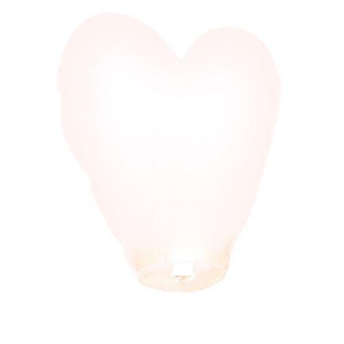 lanterne volante coeur blanc