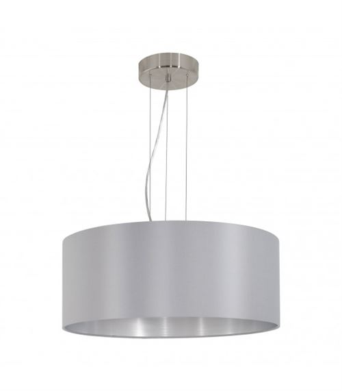Eglo Lampe 31606 intérieur, métal, E27, gris