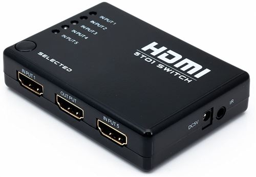Alpexe® 5 port Commutateur HDMI HUB 1080p Switch Splitter + Télécommande IR Pr PS3/HDTV