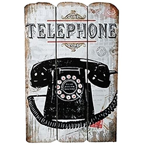 Plaque en bois Téléphone
