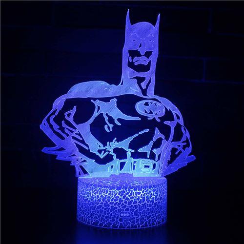 Lampe 3D Tactile Veilleuses Enfant 7 Couleurs avec Telecommande - Batman #291