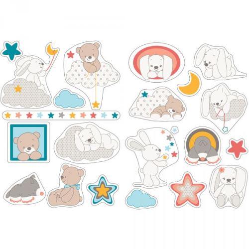 Autocollants stickers décoratifs mia & basile - nattou
